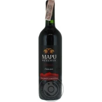 Вино Mapu Reserva Carmenere красное сухое 13,5% 0,75л