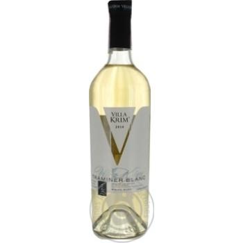 Вино Villa Krim Traminer Blanc біле напівсолодке 12% 0,75л