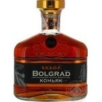 Cognac Bolgrad 40% 500ml glass bottle Ukraine