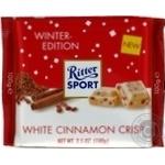 Шоколад Ritter Sport белый с корицей и хрустящими хлопьями 100г