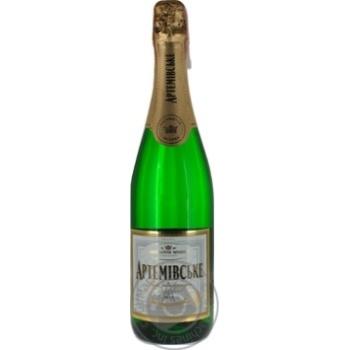Sparkling wine Azshv Private import white semisweet 13.5% 750ml glass bottle Ukraine