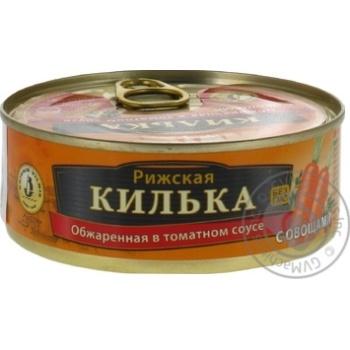 Килька Brivais Vilnis в томатном соусе с овощами 240г