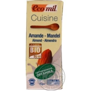 Растительные сливки Ecomil из миндаля для приготовления органические 200мл - купить, цены на Novus - фото 3