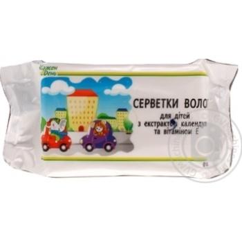 Салфетки влажные Каждый день для детей с экстрактом календулы и витамином Е 60шт