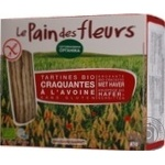 Хлебцы Le Pain des fleurs овсяные органические безглютеновые 150г