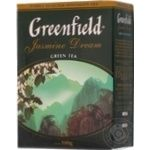Чай Гринфилд Жасмин Дрим зеленый с жасмином листовой 100г