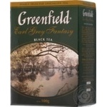 Black leaf tea Greenfield Earl Grey Fantasy with bergamot big leaf 100g