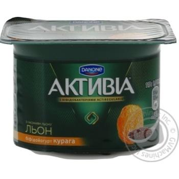 Бифидойогурт Danone Активиа Курага с семенами льна 3% 115г