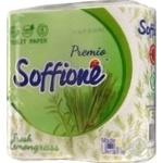 Папір туалетний Fresh Lemongrass Soffione 4рул