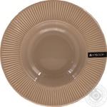 Тарілка супова керамічна Palette Ambition темно-сіра 24см