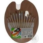 Набор для рисования  Auchan палитра с кистями 12шт