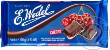 Шоколад темный E.Wedel с вишневой начинкой 100г