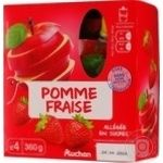 Puree Auchan Auchan strawberry 360g