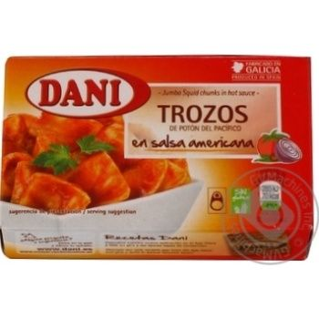 Seafood squid Dani canned 106г