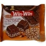 Chocolate milky Duca degli abruzzi Win-win with rice bars 75g