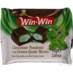 Chocolate black Duca degli abruzzi Win-win mint bars 75g