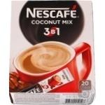 Напиток кофейный Nescafe 3в1 Coconut mix растворимый в стиках 20*16г