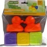 Набір іграшок для ванної Кубики&качки Baby Team 5шт