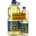 Oil Schedry dar sunflower refined 4000ml Ukraine