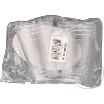 Рюмка Унипак пластиковая одноразовая 40мл 6шт - купить, цены на Ашан - фото 3