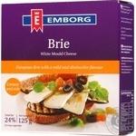 Сыр Emborg Brie с плесенью 50% 125г