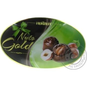 Цукерки Magnat Nuts Gold шоколадні з лісовими горіхами 143г