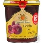 Jam Les confituriers de haute provence peach 240g glass jar France