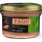 Mousse Fago chicken canned 180g glass jar