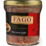 Meat Fago duck canned 330g glass jar