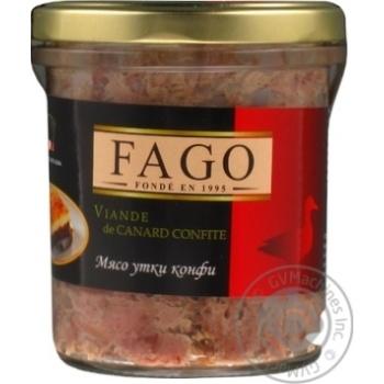 Мясо утки Fago конфи 330г