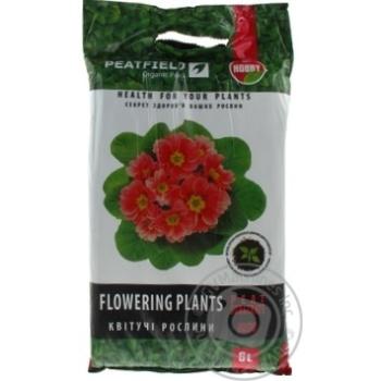 Субстрат торфяной Peatfield для цветущих растений 6л - купить, цены на Таврия В - фото 1