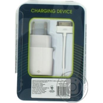 Пристрій зарядний мережевий MSH-TR-071 1USB1A з кабелем для iPhone 4 Білий Global - купить, цены на Novus - фото 2