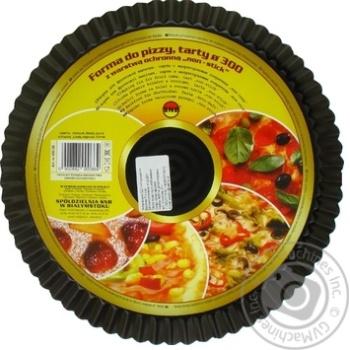 Форма SNB для піци, тарта з непригораємим покриттям нон-стік чорна 30см