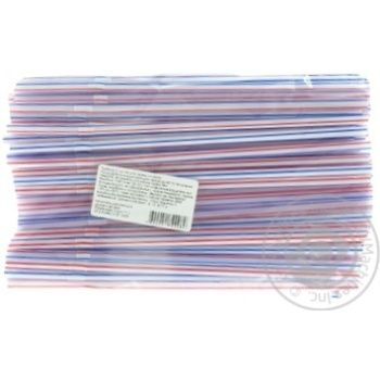 Straws 100 pieces 21cm - buy, prices for Auchan - image 2
