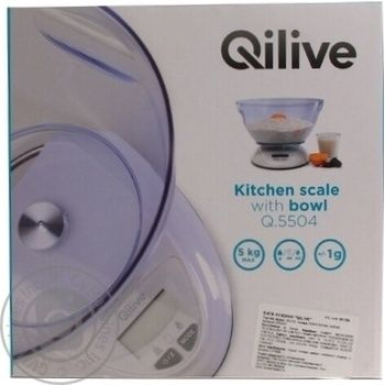 Весы кухонные Qilive EK5850 - купить, цены на Ашан - фото 1