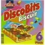 Печенье Nora Discobits Biscuit с карамелью шоколадом и цветным драже 162г