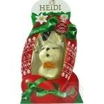 Фигурка шоколадная Heidi Зайчик пасхальный с бантиком из белого шоколада 75г