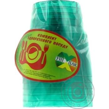 Стакан Унипак пластиковый одноразовый 6шт - купить, цены на Ашан - фото 2
