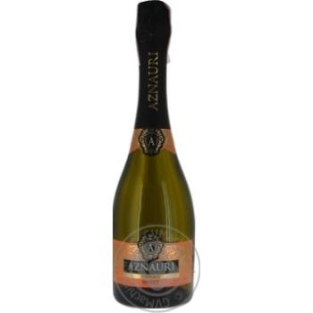 Вино игристое Aznauri белое сладкое 10-13% 0,75л - купить, цены на Novus - фото 1