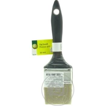 Кисть Auchan флейцевая натуральная 6см - купить, цены на Ашан - фото 1