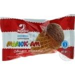 Мороженое Ласунка Малюк-Ам шоколадное в вафельном стакане 80г