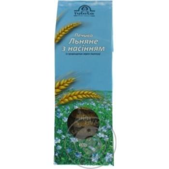 Печенье УкрЭкоХлеб Льняное с семенами из пророщенных зерен пшеницы 180г