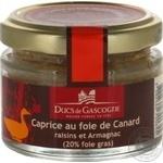 Печень Ducs de Gascogne утиная с виноградом и арманьяком 65г