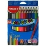 Олівці кольорові Maped Color Peps Classic 36кольорів MP832017