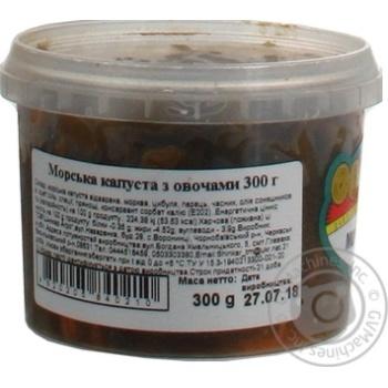 Морская капуста Шинкарь с овощами 300г - купить, цены на Ашан - фото 2