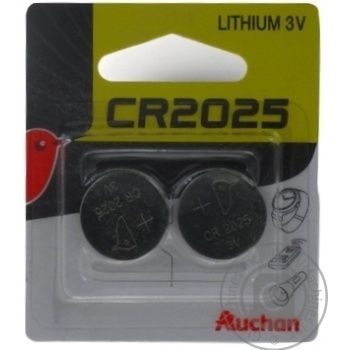 Auchan Alkaline Batteries CR2025 3V 2pc - buy, prices for Auchan - photo 2