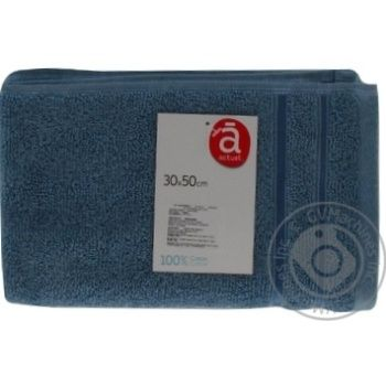 Полотенце Actuel голубое 30х50см