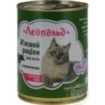 Food Leopold with beef for cats 360g can