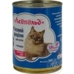 Food Leopold with poultry meat for cats 360g can