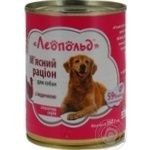 Food Leopold turkey for dogs 360g can